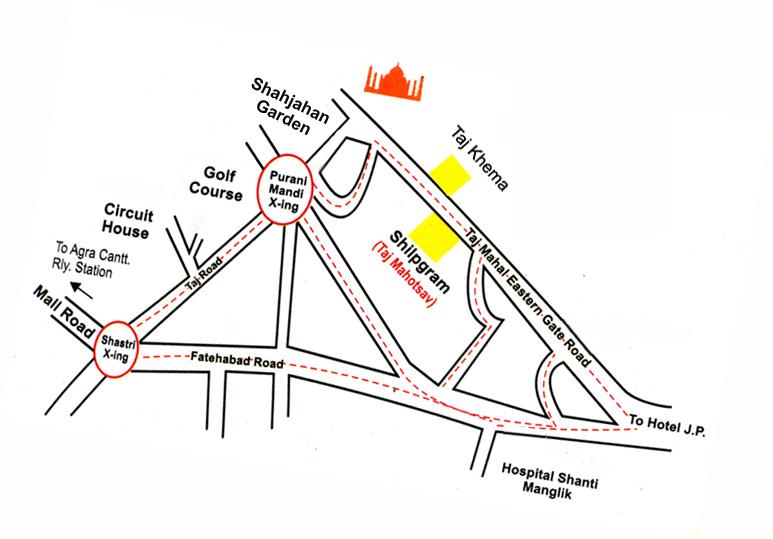 Taj Mahotsav::Taj Mahotsav Agra India, Information About ... on agra new delhi india map, taj mahal india location on map, madrid tourist map, agra uttar pradesh india map,